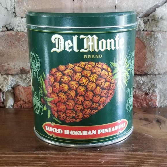 Vintage Del Monte Metal Tin Can Pineapple
